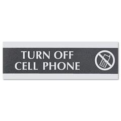 Century Series Office Sign,TURN OFF CELL PHONE, 9 x 3