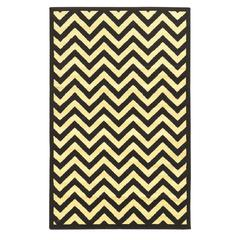"Capri Chevron Black 4'4""X7'3"""