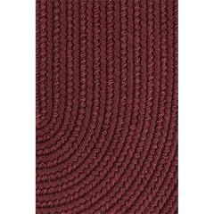 "Rhody Rug WearEver Burgundy Poly 18"" x 36"" Slice"