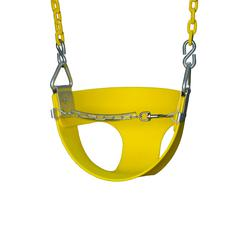 Half Bucket Toddler Swing - Yellow