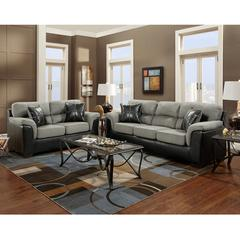 Flash Furniture Exceptional Designs by Flash Living Room Set in Laredo Graphite Microfiber