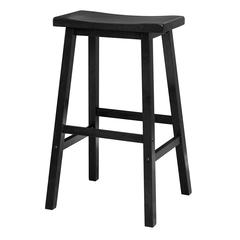 "Winsome Wood Satori 29"" Saddle Seat Bar Stool Black, 17.91 x 15.79 x 28.86, Black"