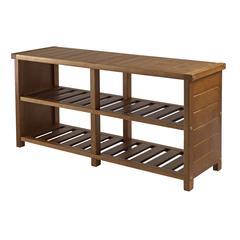 Winsome Wood Keystone Shoe Bench, 38.39 x 11.81 x 18.27, Teak