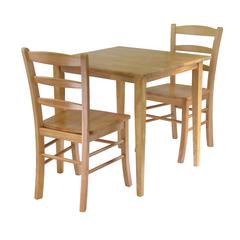 Winsome Wood Groveland 3Pc Dining Set, Square Table With 2 Chairs