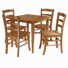 Winsome Wood Groveland 5-Pc Dining Table With 4 Chairs