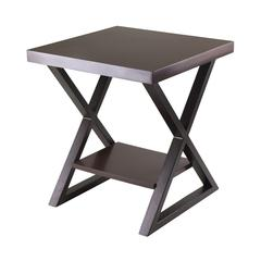 Winsome Wood Korsa End Table with Dark Bronze Legs