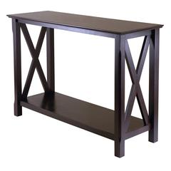 Winsome Wood Xola Console Table, 45 x 17.09 x 30, Cappuccino