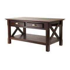 Winsome Wood Xola Coffee Table With 2 Drawers, 37 x 21.02 x 18.03, Cappuccino