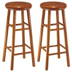 "Winsome Wood Oakley 2-Pc 30"" Swivel Seat Bar Stool Set Cherry, 13.5 x 13.5 x 30.94, Cherry"
