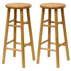 "Winsome Wood Tabby 2-Pc 30"" Bar Stool Set Natural, 13.5 x 13.5 x 30.16, Natural"