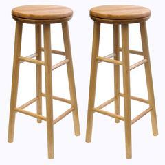 "Winsome Wood Oakley 2-Pc 30"" Swivel Seat Bar Stool Set Beech, 13.5 x 13.5 x 30.94, Beech"