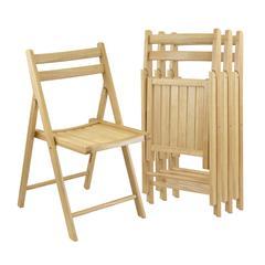 Winsome Wood Robin 4-Pc Folding Chair Set Natural, 17.64 x 20.1 x 32.28, Beech