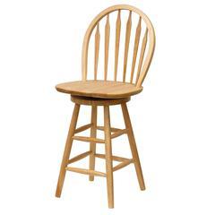 "Winsome Wood Wagner 24"" Arrow-Back Windsor Swivel Seat Bar Stool Beech, 18 x 17 x 40, Beech"