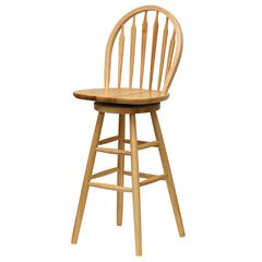 "Winsome Wood Wagner 30"" Arrow-Back Windsor Swivel Seat Bar Stool Beech, 18 x 17 x 45.5, Beech"