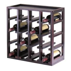 Winsome Wood Kingston Stackable Slot Cube, 16-Bottle Wine Cube