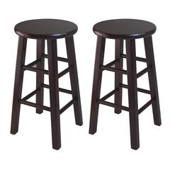 "Winsome Wood Pacey 2-Pc 24"" Bar Stool Set Espresso, 13.4 x 13.4 x 24.2, Espresso"