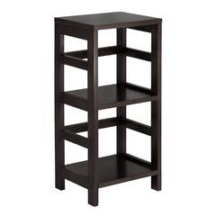 Winsome Wood Leo Shelf / Storage, Book, 2-Tier, Narrow, 13.39 x 11.22 x 29.21, Espresso