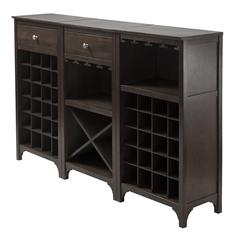 Ancona 3-Pc Modular Wine Cabinet  Set