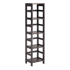Winsome Wood Leo Shelf With 4-Tier, 13.39 x 11.22 x 54.8, Espresso
