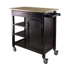 Winsome Wood Mali Kitchen Cart, 36.06 x 18.5 x 34.61, Beech / Espresso