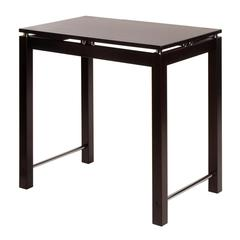 Winsome Wood Linea Kitchen Island Table With Chrome Accent, 35.5 x 23.5 x 34, Dark Espresso