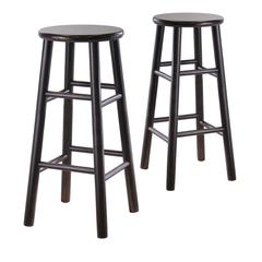 "Winsome Wood Tabby 2-Pc 30"" Bar Stool Set Dark Espresso, 13.5 x 13.5 x 30.16, Dark Espresso"