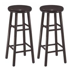 "Winsome Wood Oakley 2-Pc 30"" Swivel Seat Bar Stool Set Dark Espresso, 13.5 x 13.5 x 30.94, Dark Espresso"