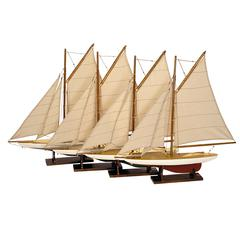 Authentic Models Mini Pond Yachts, Set 4