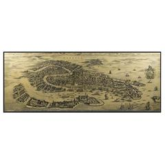 Authentic Models Wall Map Venice 1694