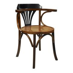 Authentic Models Navy Chair, Black/Honey