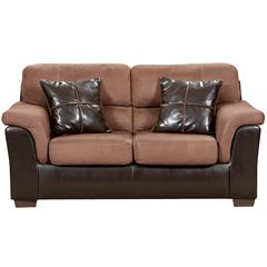 Flash Furniture Exceptional Designs by Flash Laredo Chocolate Microfiber Loveseat