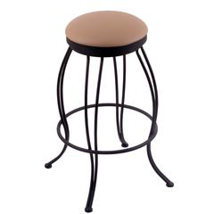 "3000 Georgian 30"" Bar Stool with Black Wrinkle Finish, Allante Beechwood Seat, and 360 swivel"