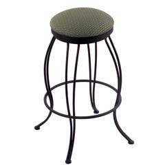 "Holland Bar Stool Co. 3000 Georgian 25"" Counter Stool with Black Wrinkle Finish, Axis Grove Seat, and 360 swivel"