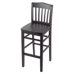 "3110 25"" Stool with Black Finish, Black Seat"