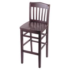 "3110 25"" Stool with Dark Cherry Finish, Dark Cherry Seat"