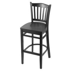 "Holland Bar Stool Co. 3120  25"" Stool with Black Finish, Black Seat"
