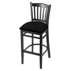 "Holland Bar Stool Co. 3120  30"" Stool with Black Finish, Black Vinyl Seat"