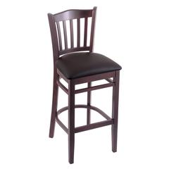 "Holland Bar Stool Co. 3120  25"" Stool with Dark Cherry Finish, Allante Espresso Seat"