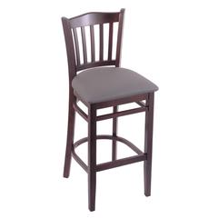 "3120 25"" Stool with Dark Cherry Finish, Allante Medium Grey Seat"