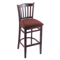 "3120 25"" Stool with Dark Cherry Finish, Axis Paprika Seat"