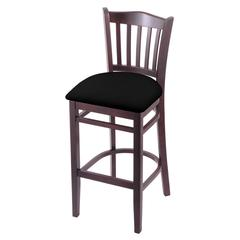 "3120 25"" Stool with Dark Cherry Finish, Black Vinyl Seat"