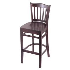 "3120 30"" Stool with Dark Cherry Finish, Dark Cherry Seat"