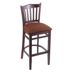 "Holland Bar Stool Co. 3120  25"" Stool with Dark Cherry Finish, Rein Adobe Seat"