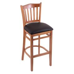 "Holland Bar Stool Co. 3120  25"" Stool with Medium Finish, Allante Espresso Seat"