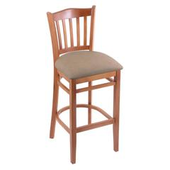 "Holland Bar Stool Co. 3120  25"" Stool with Medium Finish, Rein Thatch Seat"