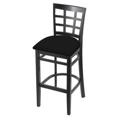 "3130 30"" Stool with Black Finish, Black Vinyl Seat"