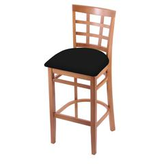 "Holland Bar Stool Co. 3130  25"" Stool with Medium Finish, Black Vinyl Seat"