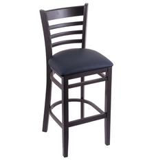 "3140 25"" Stool with Black Finish, Allante Dark Blue Seat"