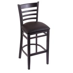 "3140 25"" Stool with Black Finish, Allante Espresso Seat"