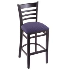 "Holland Bar Stool Co. 3140  30"" Stool with Black Finish, Axis Denim Seat"